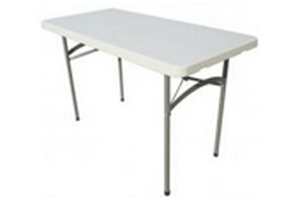 4 ft plastic rectangular folding table